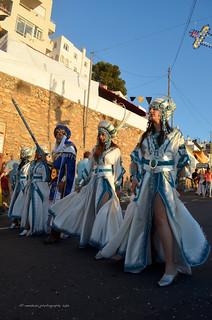 Moros y cristianos  Mojacar/Blanco y turquesa