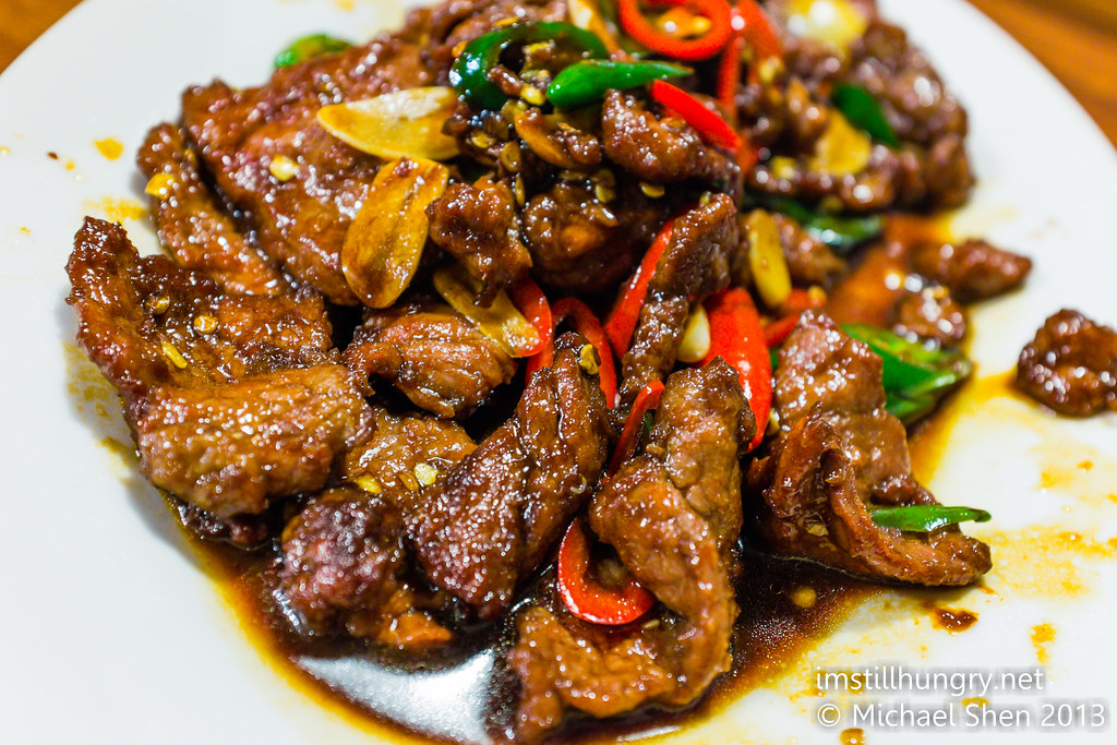 Stir fried spicy beef w/peanuts & chillis Taste of Shanghai