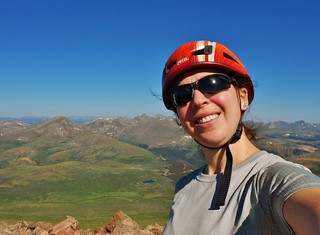 Climbergirl on Summit of Mt. Bierstadt (14,060 ft)