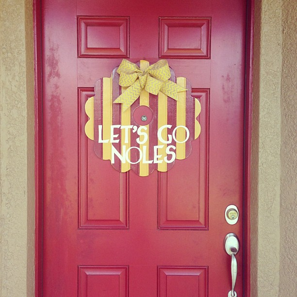 We're ready for FSU football! #FSU #GoNoles #doorwreath