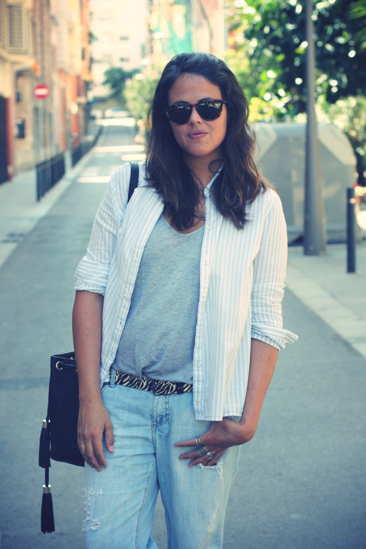 Look Boyfriend Jeans + shirt