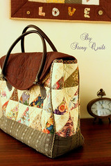 Vintage style handmade patchwork quilted bag for sell in my Etsy.
