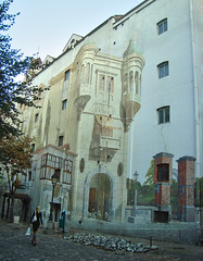Trompe-l'oeil in Skadarska Street, Belgrade, Serbia