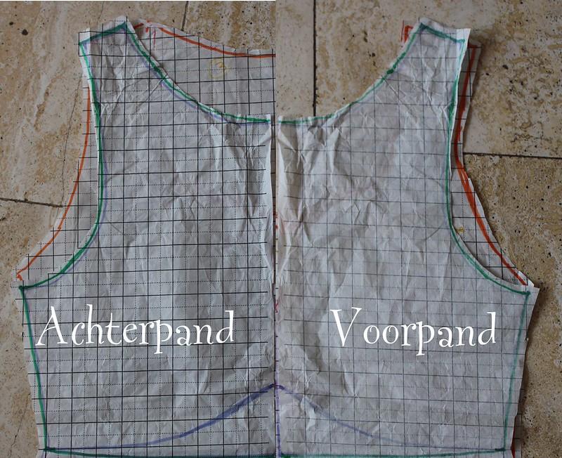 Patroon tekenen voor jurk met mouwen