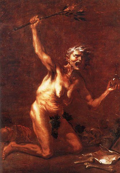 3. La bruja. Obra pictórica de Salvator Rosa. 1640-1649