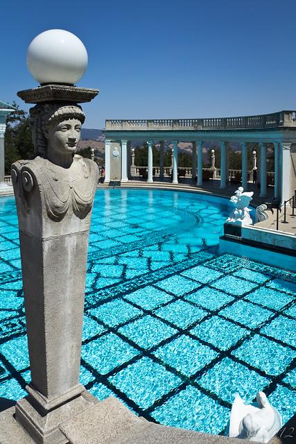 Neptune Pool Lamp, Hearst Castle, San Simeon, California