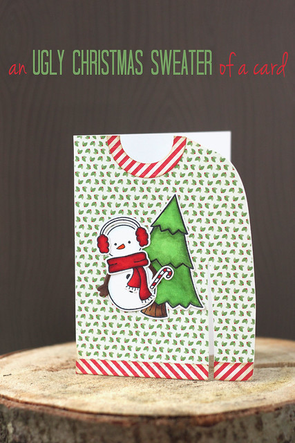 ugly sweater card.
