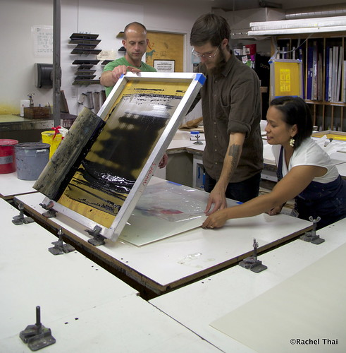 Screenprinting Demo by Justin Moore