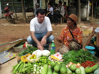 Australian volunteer Aaron Watson works with SEADO in Cambodia helping people with HIVAIDS to earn a living. Cambodia, 2010. Photo: AusAID