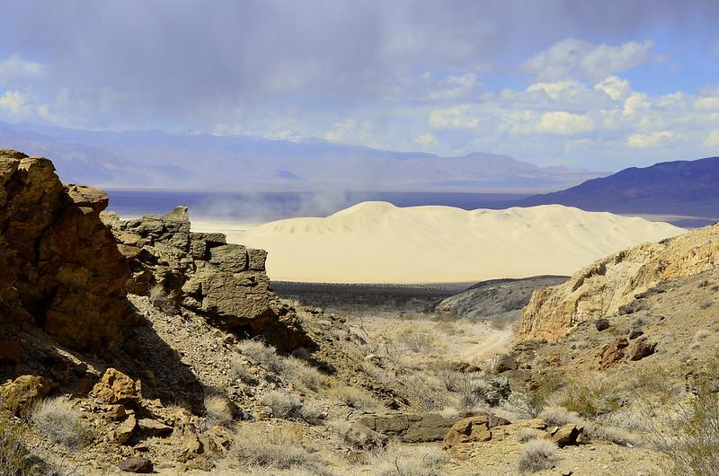 Eureka Dunes Peeking Through