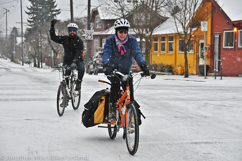Snow scenes in Portland-6