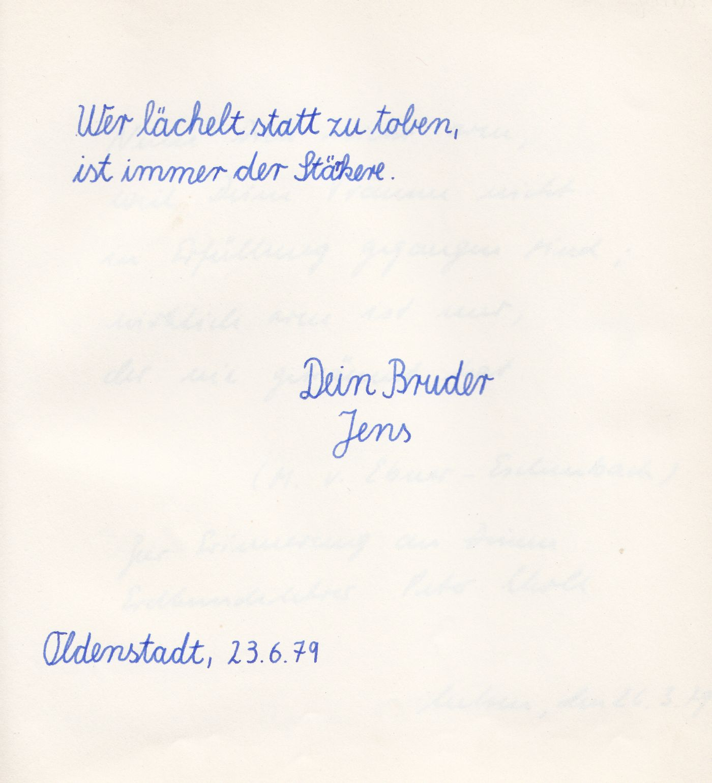 Schön Schau Mal, Was Du Damals In MEIN Poesiealbum Geschrieben Hast.