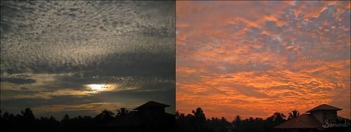 sunset sky india clouds kerala before after kochi karunakaran sanand sanandkarun