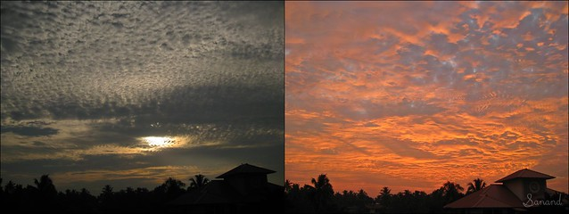 Clouds- Before and After Sunset
