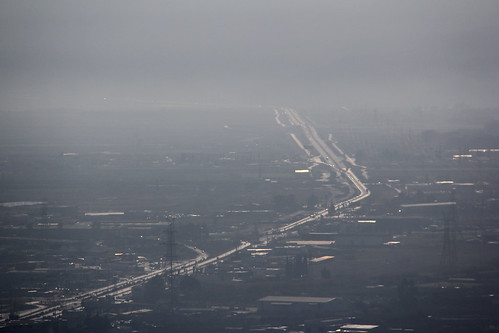 road mist landscape outdoors aerial greece lamia fthiotis