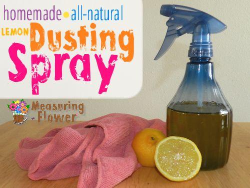 homemade lemon dusting spray