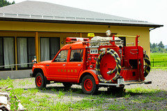 Firetruck in the country