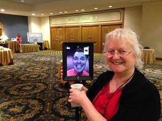Kelvin via Telepresence Robot with Linda Futch at ELI2014