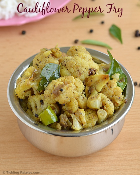 Chettinad Cauliflower Pepper Fry Recipe