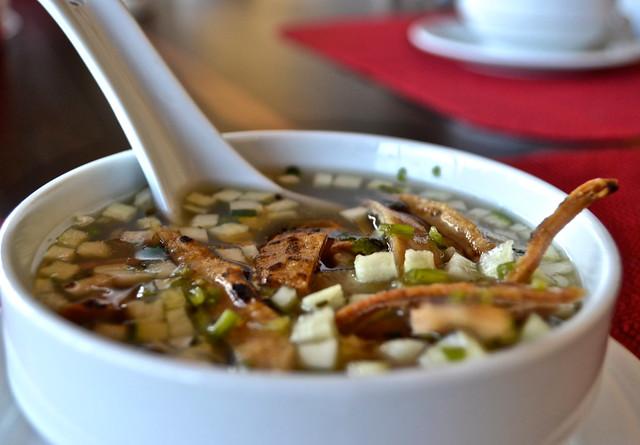 maya tortilla soup  - la danta restaurant, flores restaurant