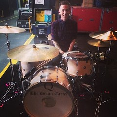 This guy right here... @haydencscott has been playing Q since day one. It's so great to get to tour with him. Thanks to @thedrumcartel for the rentals!!! #qdrumco #NIN #QOTSA #BrodyDalle #OZtakeover
