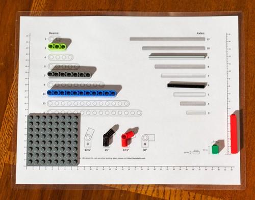 LEGO Ruler & Sorting Tool