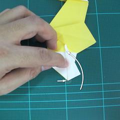 วิธีการพับกระดาษรูปม้าน้ำ (Origami Seahorse) 030