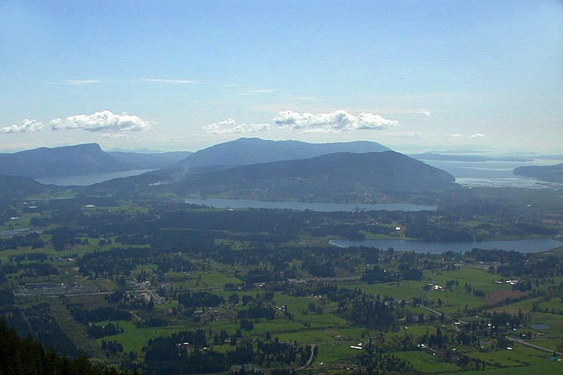 Cowichan Valley and Saltspring Island, viewed from atop Mount Prevost near Duncan, Vancouver Island, British Columbia, Canada