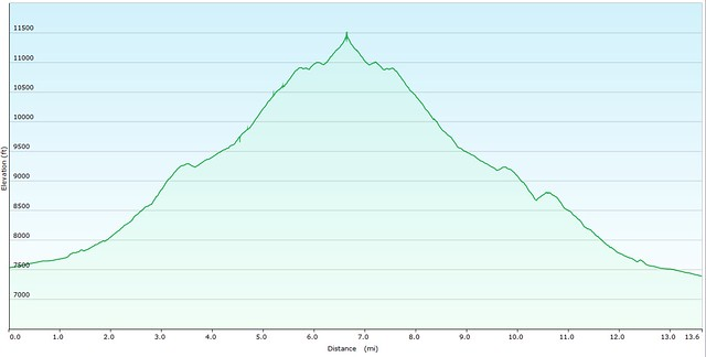 Mt. Rosa Elevation Graph