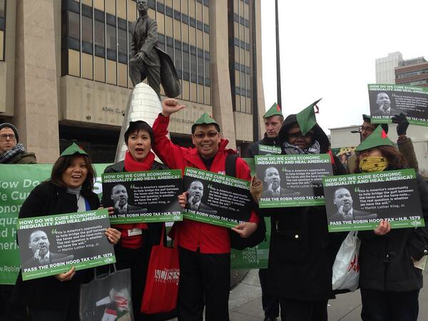 New York activists for a Robin Hood Tax