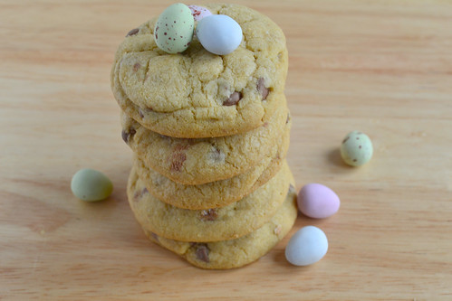 Easter egg chocolate chip cookie