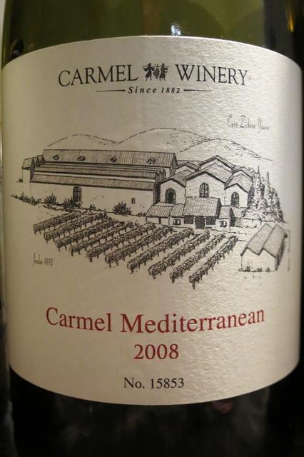 Carmel Winery 2008 Carmel Mediterranean