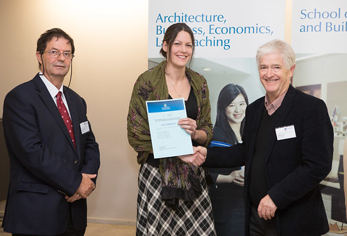 2013 Winner: Sarah Kirkham Presented by Steve Grieve (State Chapter President-AIA) and Prof George Zillante (Head of School)