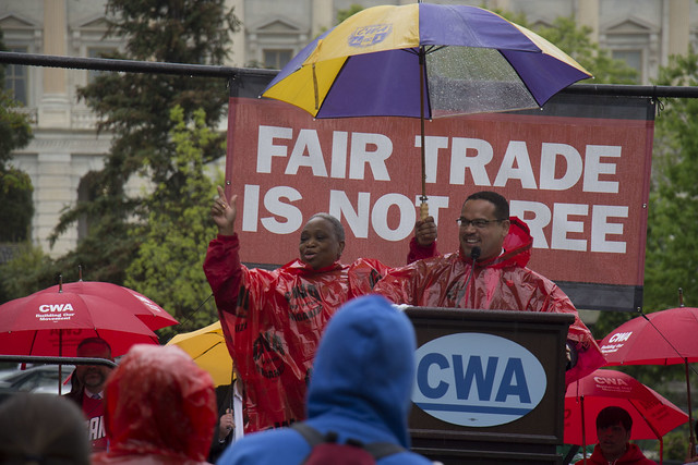 Fair Trade is Not Free, Beating Fast Track and TPP Rally | Flickr - Photo Sharing!