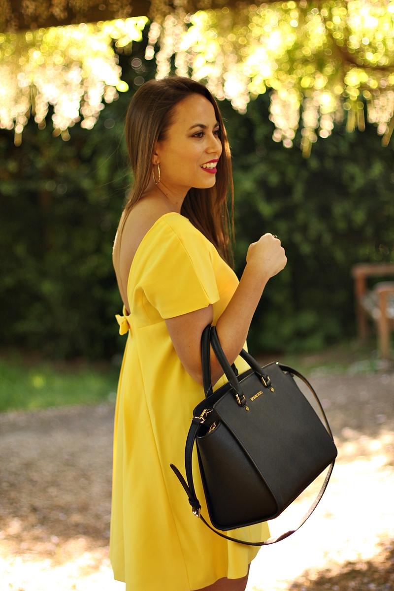 vestido, bolso selma mk
