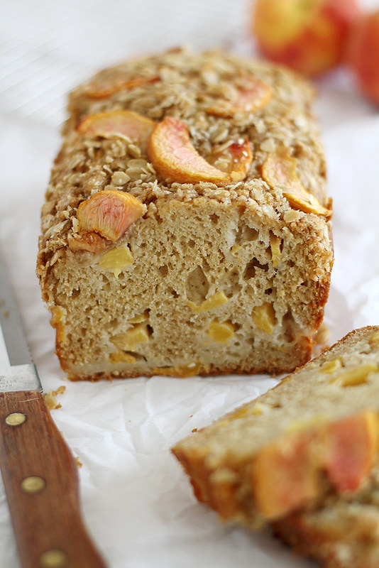 peaches & cream streusel bread