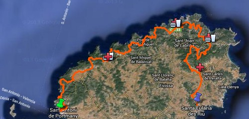Vuelta a Ibiza Internacional en mountain bike 2014. 2º Etapa – Sant Antoni – Santa Eulária