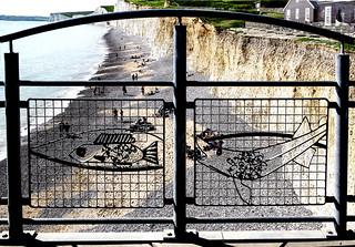 New railings at Birling Gap