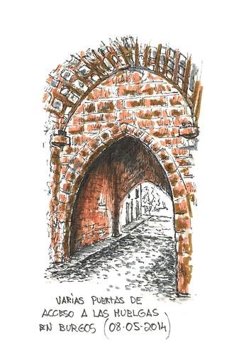 Varias puertas de acceso a Las Huelgas en Burgos
