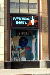 ATOMIC BOWL in Fountain Square, Indianapolis..