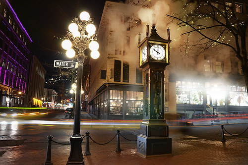 Gastown Steam Clock, Downtown Vancouver, British Columbia, Canada