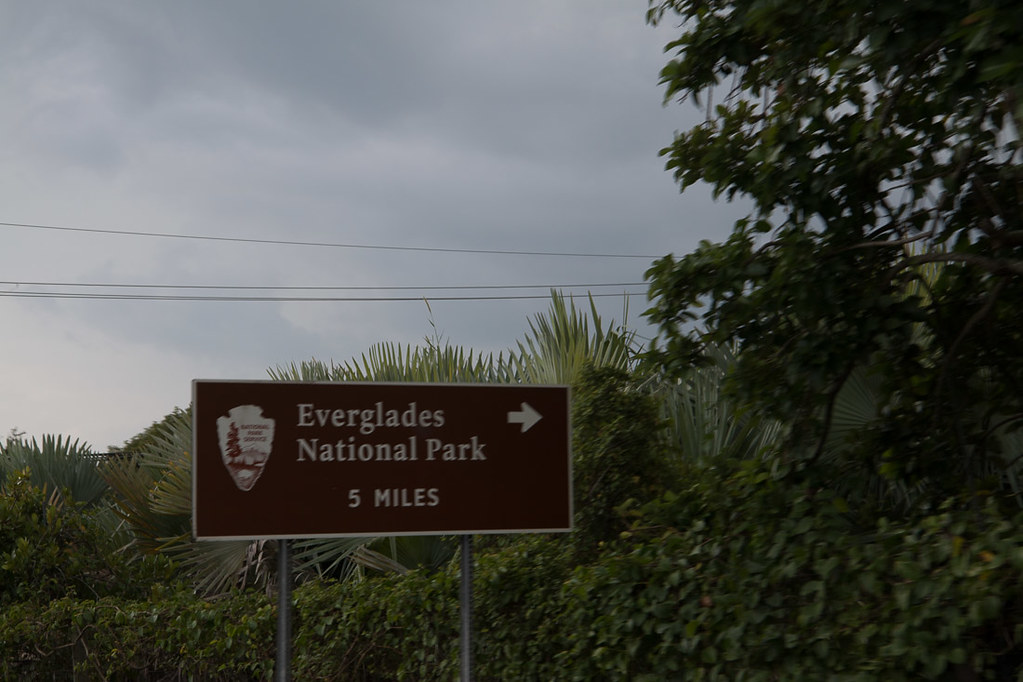 Sign to Everglades National Park