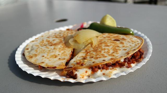 Al Pastor Quesadilla from Tacos Degollados in Des Moines, Iowa
