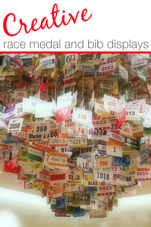 Creative Ideas for Race Medal Display and Race Bibsy