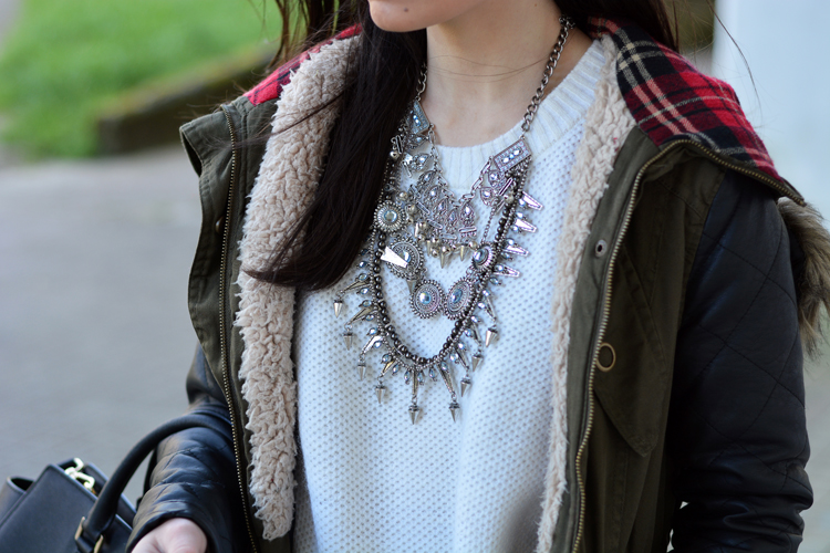ZARA_ootd_chicwish_sheinside_parka_necklace_rojo_michael kors_09