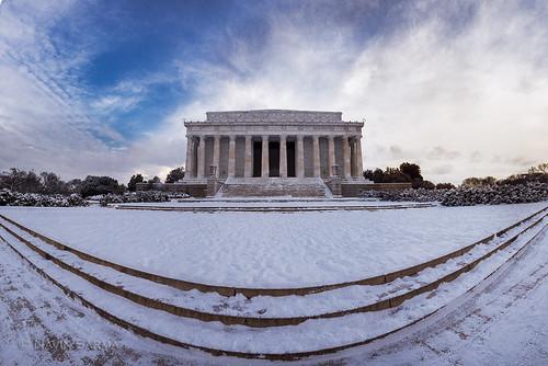 Lincoln Memorial Winter Panorama