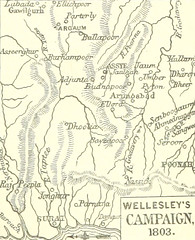 Image taken from page 681 of 'Famous British Battles, from Crécy to Assye ... With original plans and maps. And illustrations by R. Caton Woodville'