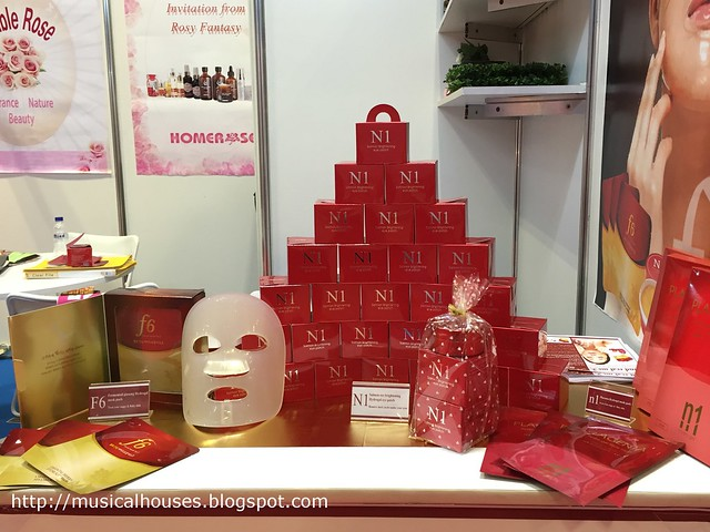 Beauty Asia 2015 KU Gtep Salmon Roe Brightening Eye Patch Display