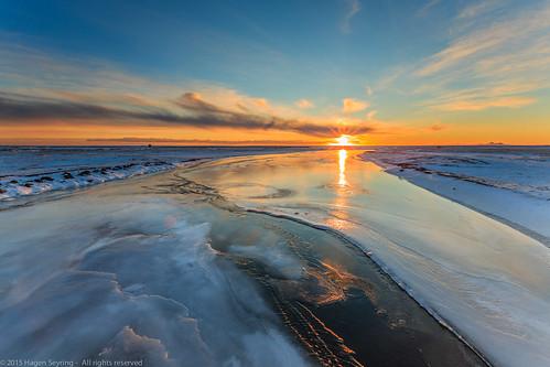 winter nature sunrise landscape island iceland europe suðurland