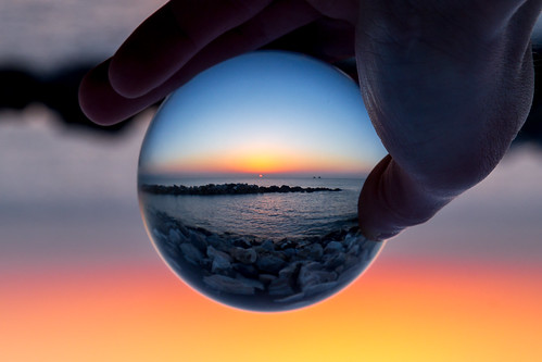 sunrise amazing spain holidays rocks colours hand orb glassball